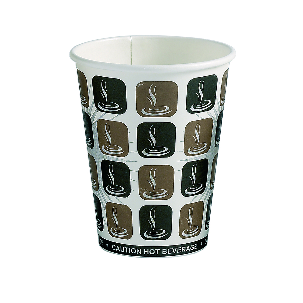 12oz Café Mocha Hot Drink Disposable Coffee Cups & Lids