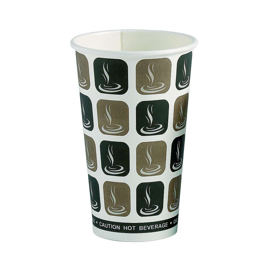 16oz Café Mocha Hot Drink Disposable Coffee Cups & Lids