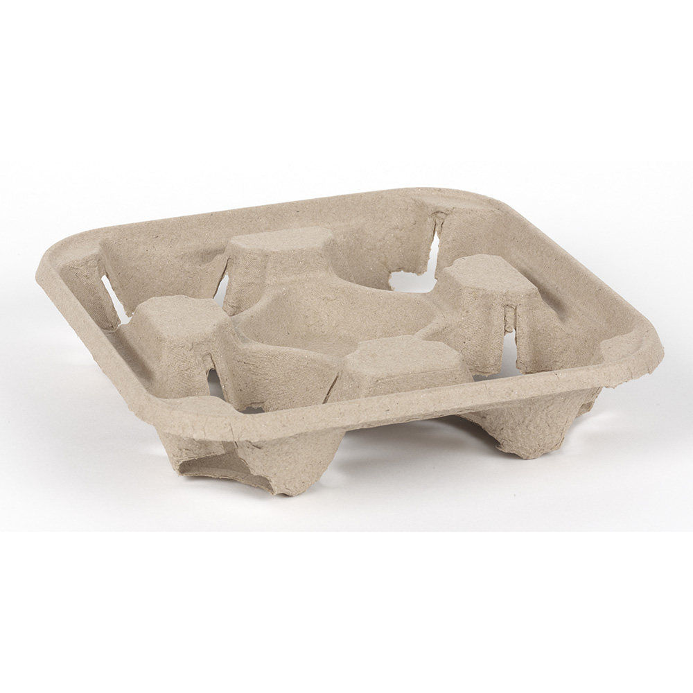 Moulded Pulp Fibre 4 Cup Carriers