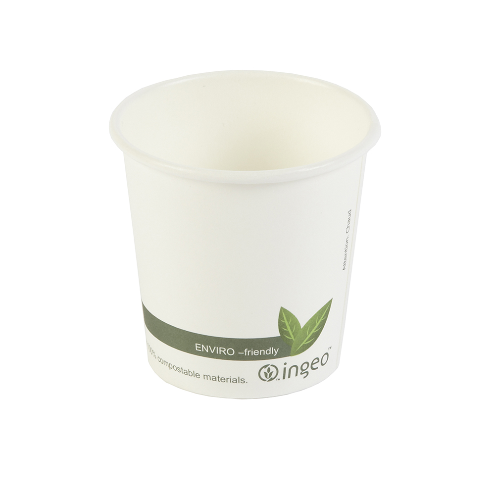 4oz PLA Biodegradable Hot Drink Disposable Coffee Cups
