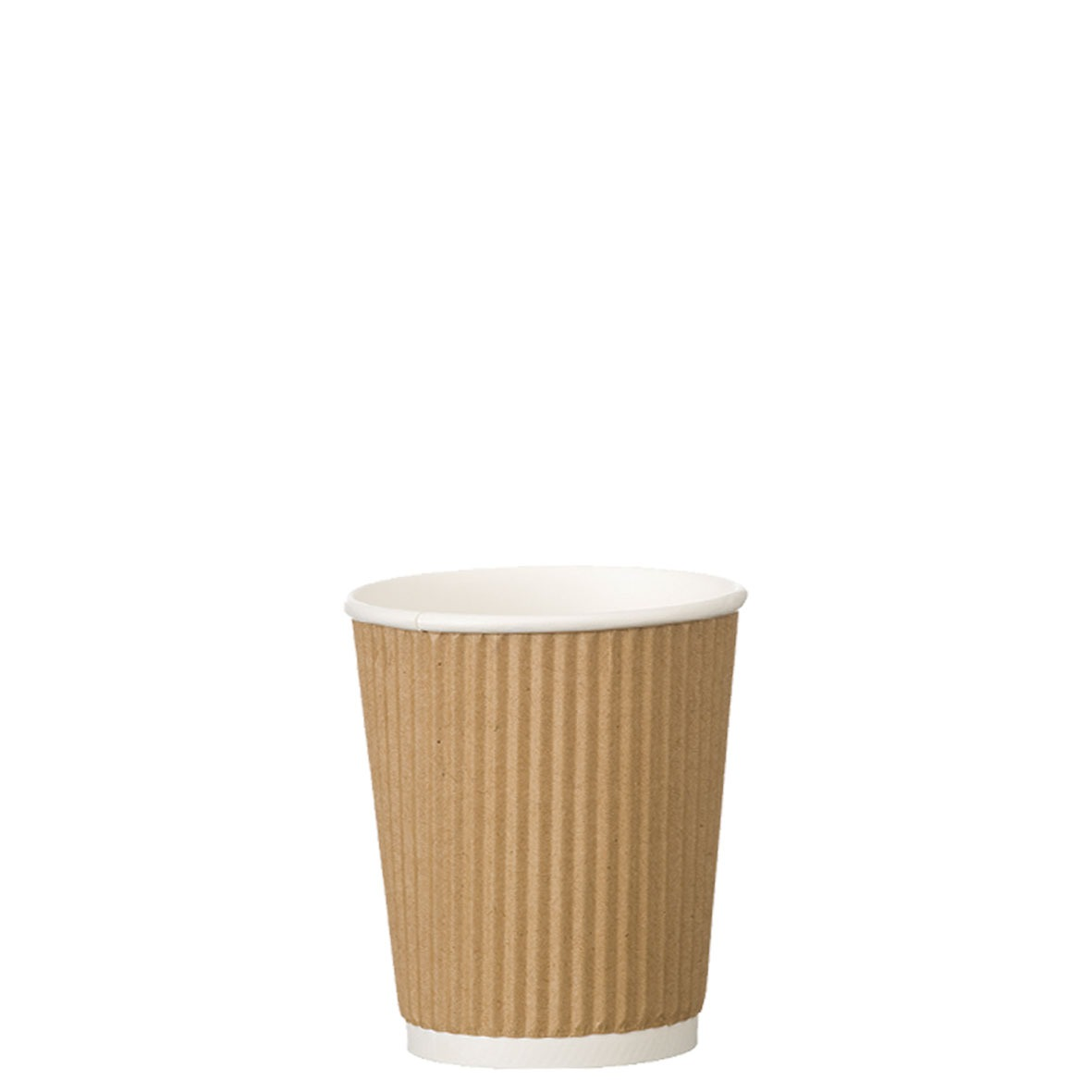 4oz Kraft Ripple Wall Hot Drink Disposable Coffee Cups & Lids