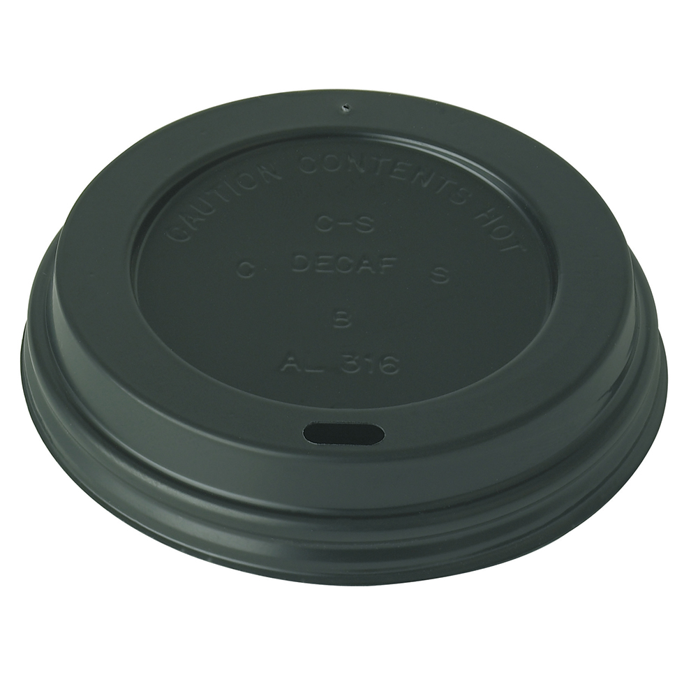 Black Domed 12 16oz Lid