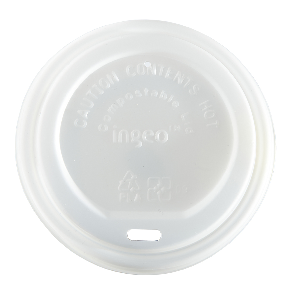 Compostable Domed Sip-thru Lid
