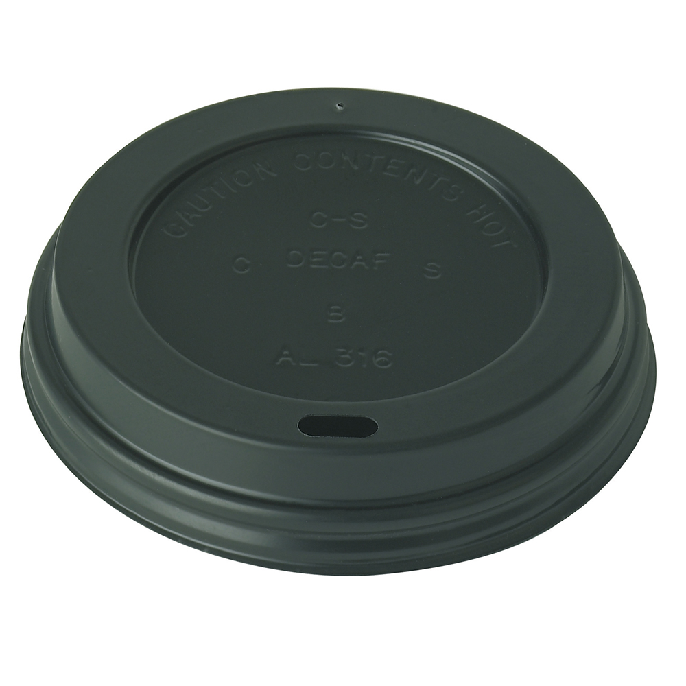 Black Domed Sip-thru Lid To Fit Ultimate Cups