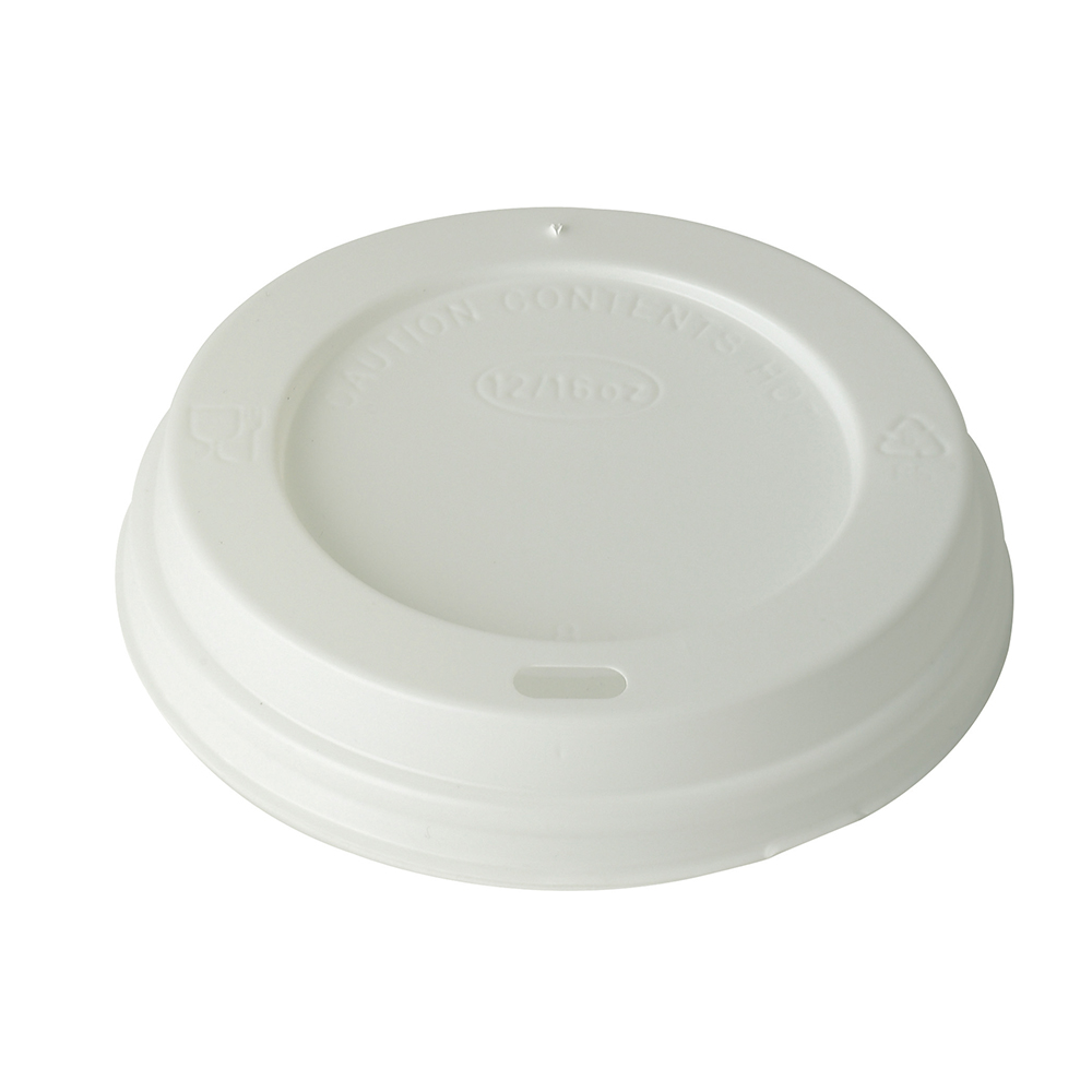 White Domed 12 16oz Lid
