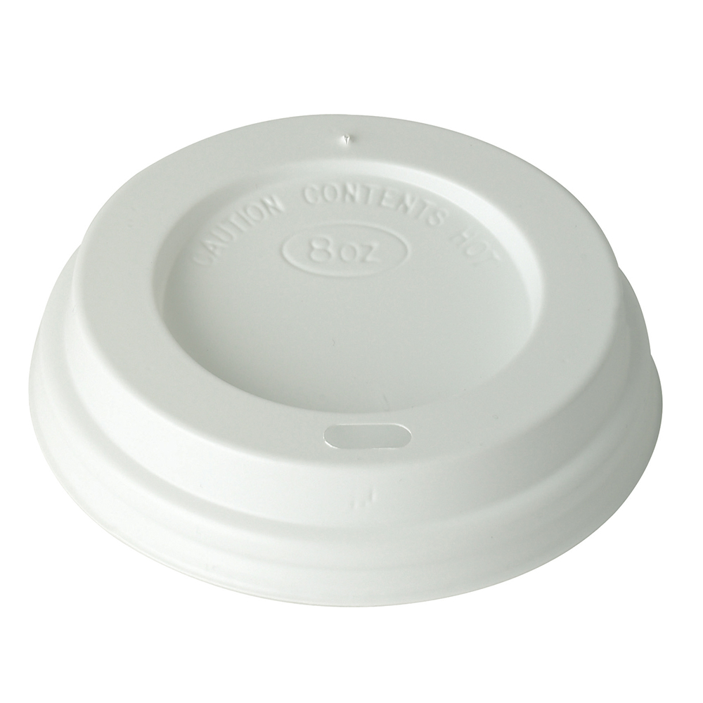 White Domed 8oz Lid