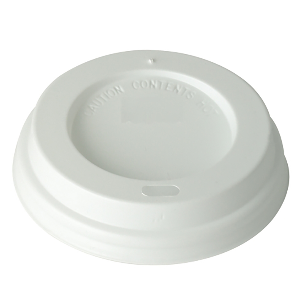 White Domed 9oz Lid