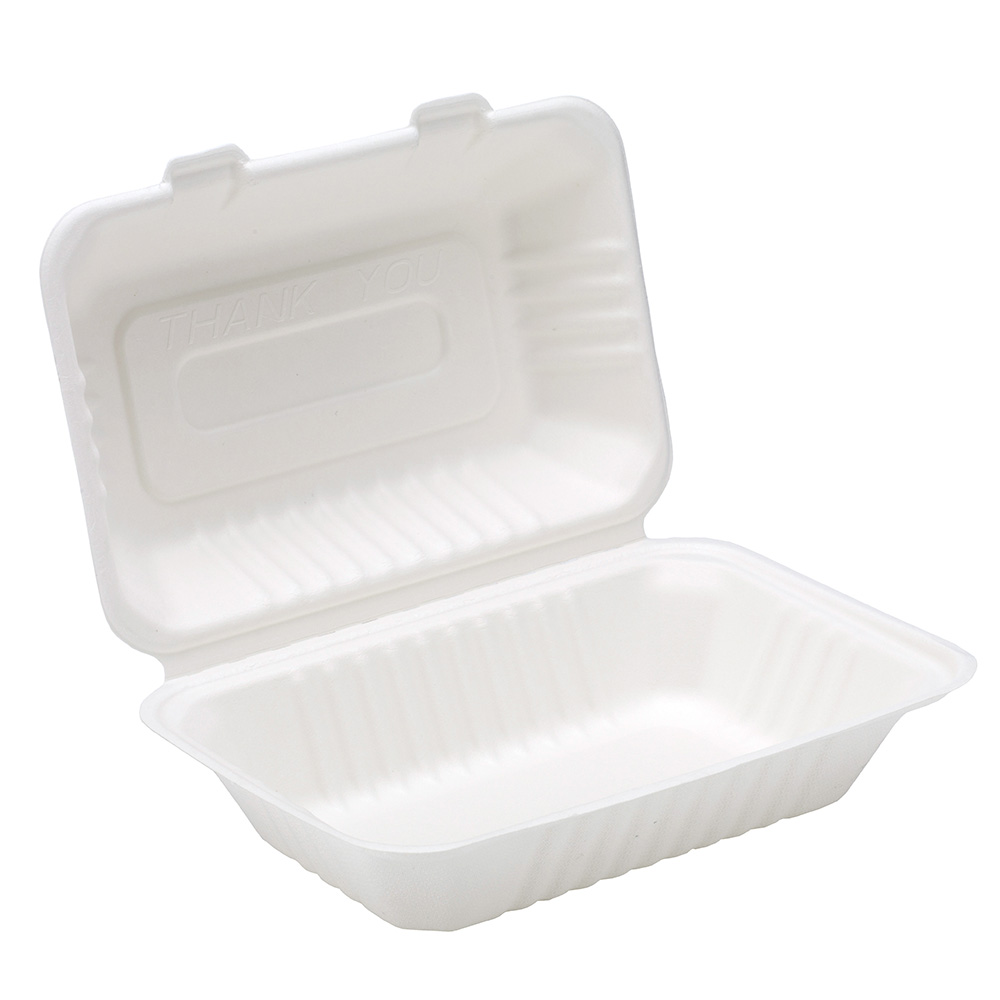 9'' X 6'' Bagasse Lunch Box
