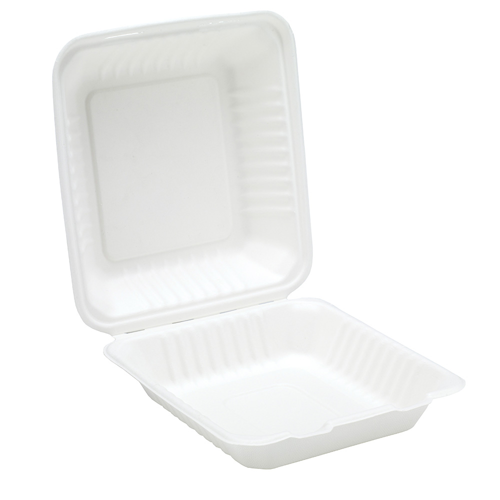 9'' Bagasse Clamshell  Meal Box
