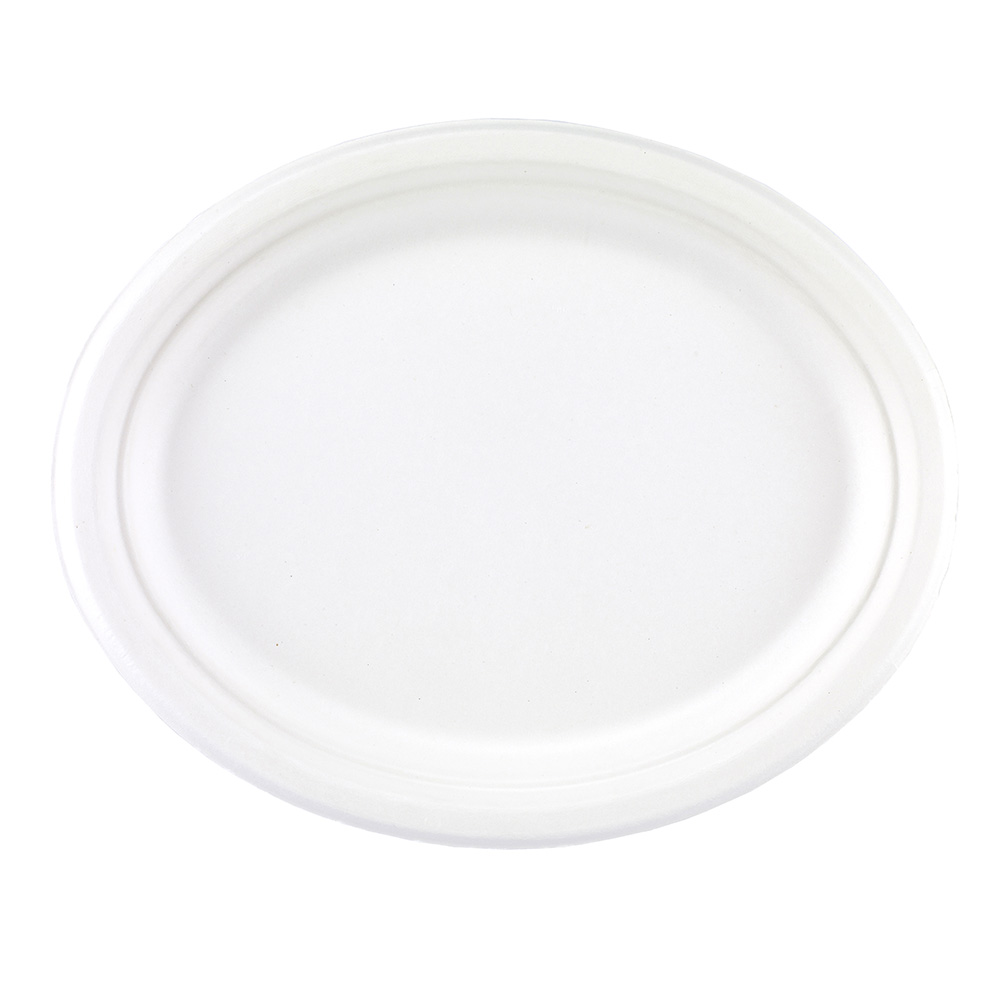 10'' X 12'' Bagasse Oval Plates