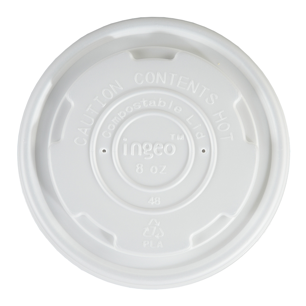 8oz Small Biodegradable Soup Container Lids