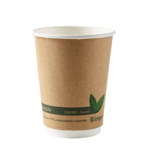 12oz Kraft Compostable Double Wall Cups
