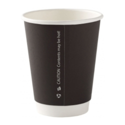 8oz Black Double Wall Paper Cups