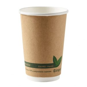 16oz Kraft Compostable Double Wall Cups