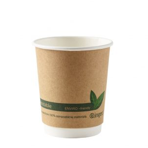 8oz Kraft Compostable Double Wall Cups